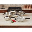 World's Finest™ 7-Ply Steam Control™ 17pc T304 Stainless Steel Cookware Set