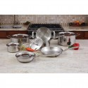 Maxam® 12pc 3-Ply Clad T304 Stainless Steel Cookware Set