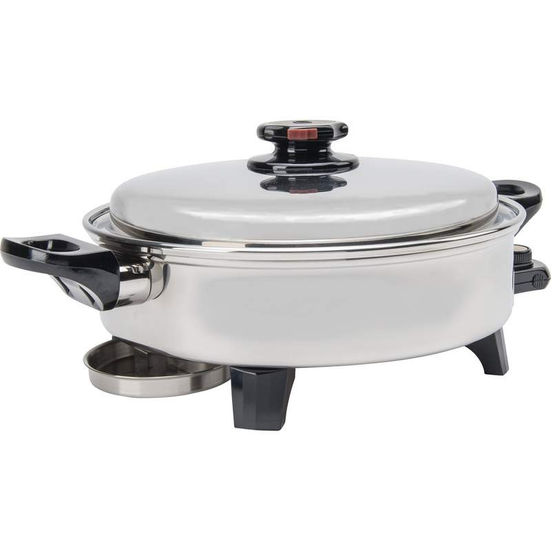 Precise Heat™ 3.5qt T304 Stainless Steel Oil Core Skillet