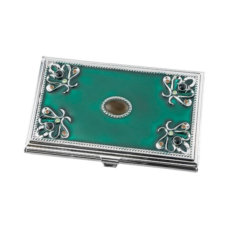 Ebalba visol turquoise green business card holder for women visol turquoise green business card holder for women reheart Gallery